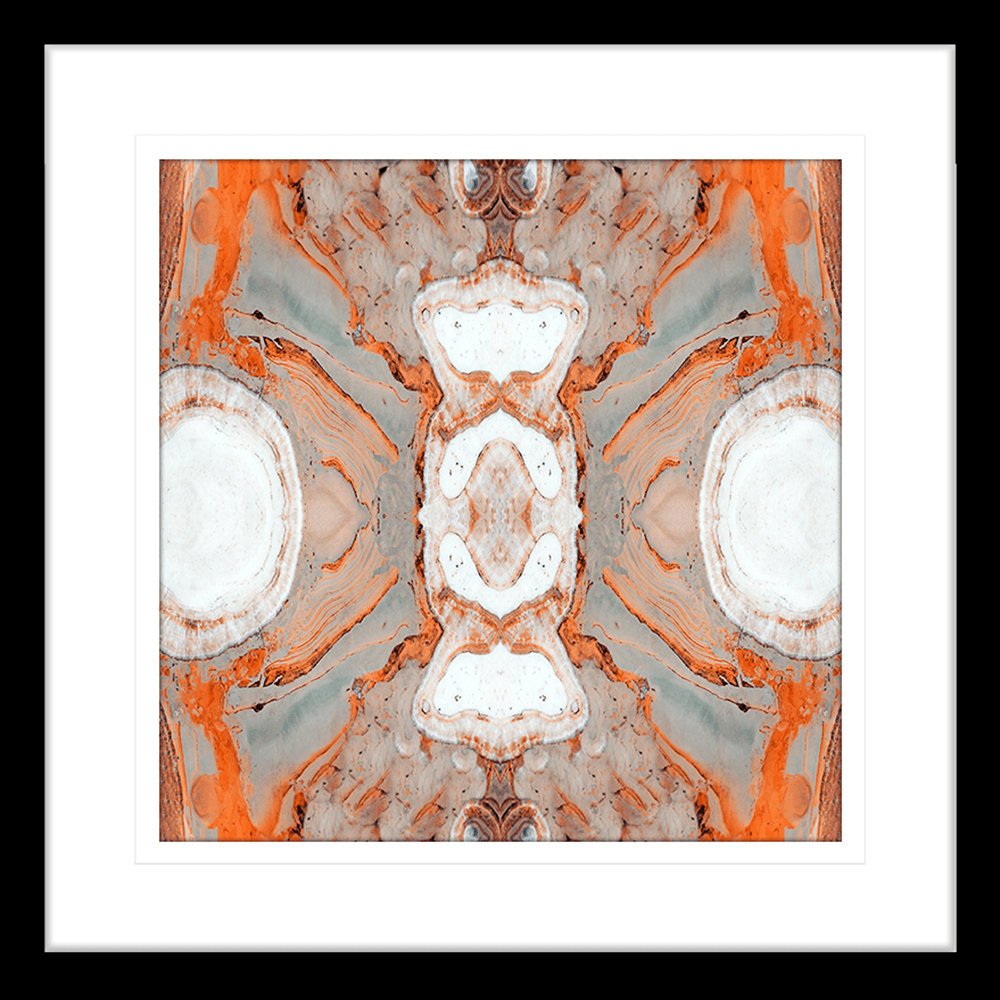 Flux Collection - FLUX02 - Framed Art Print Black