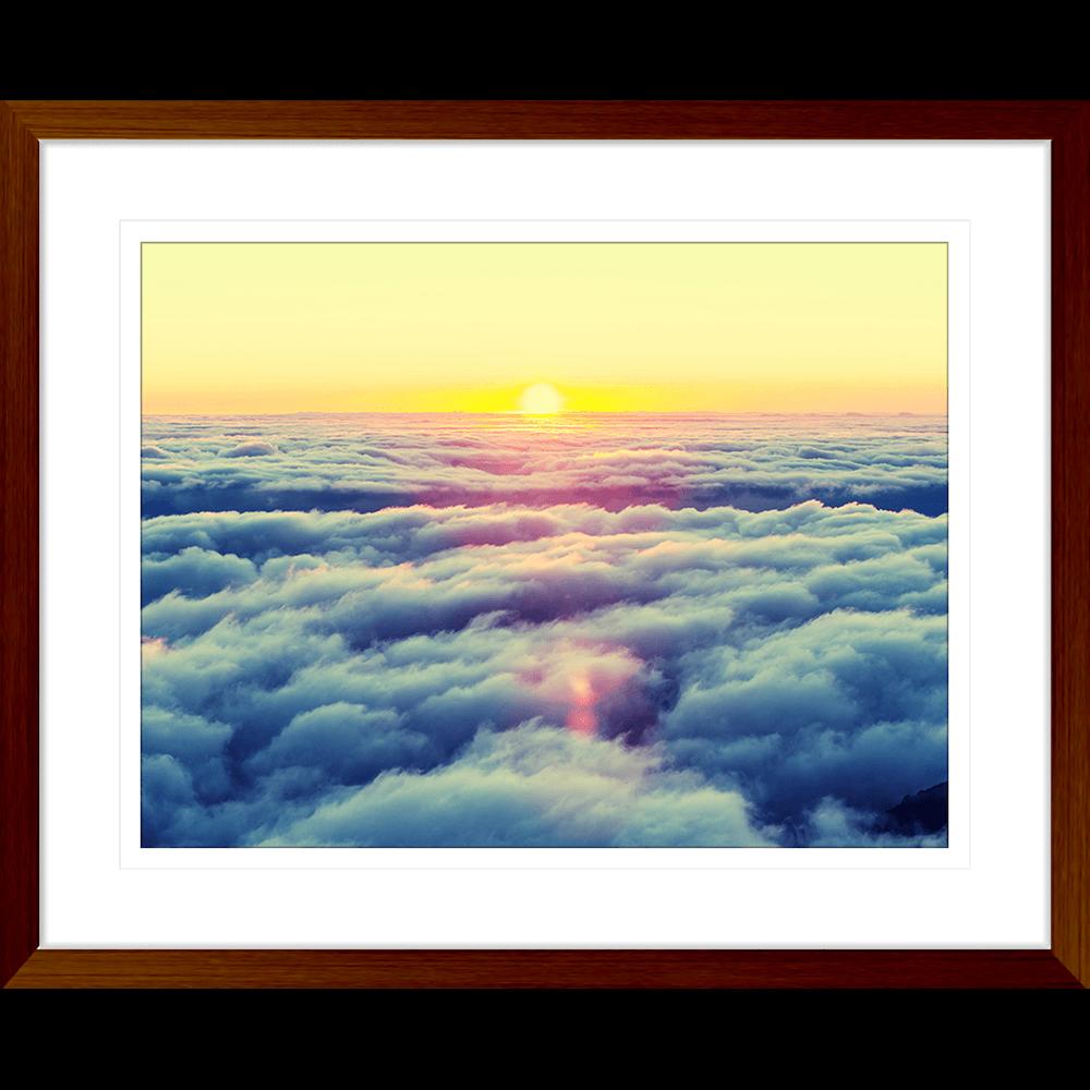 Minds Eye Collection - MINDS03 - Framed Art Print Teak