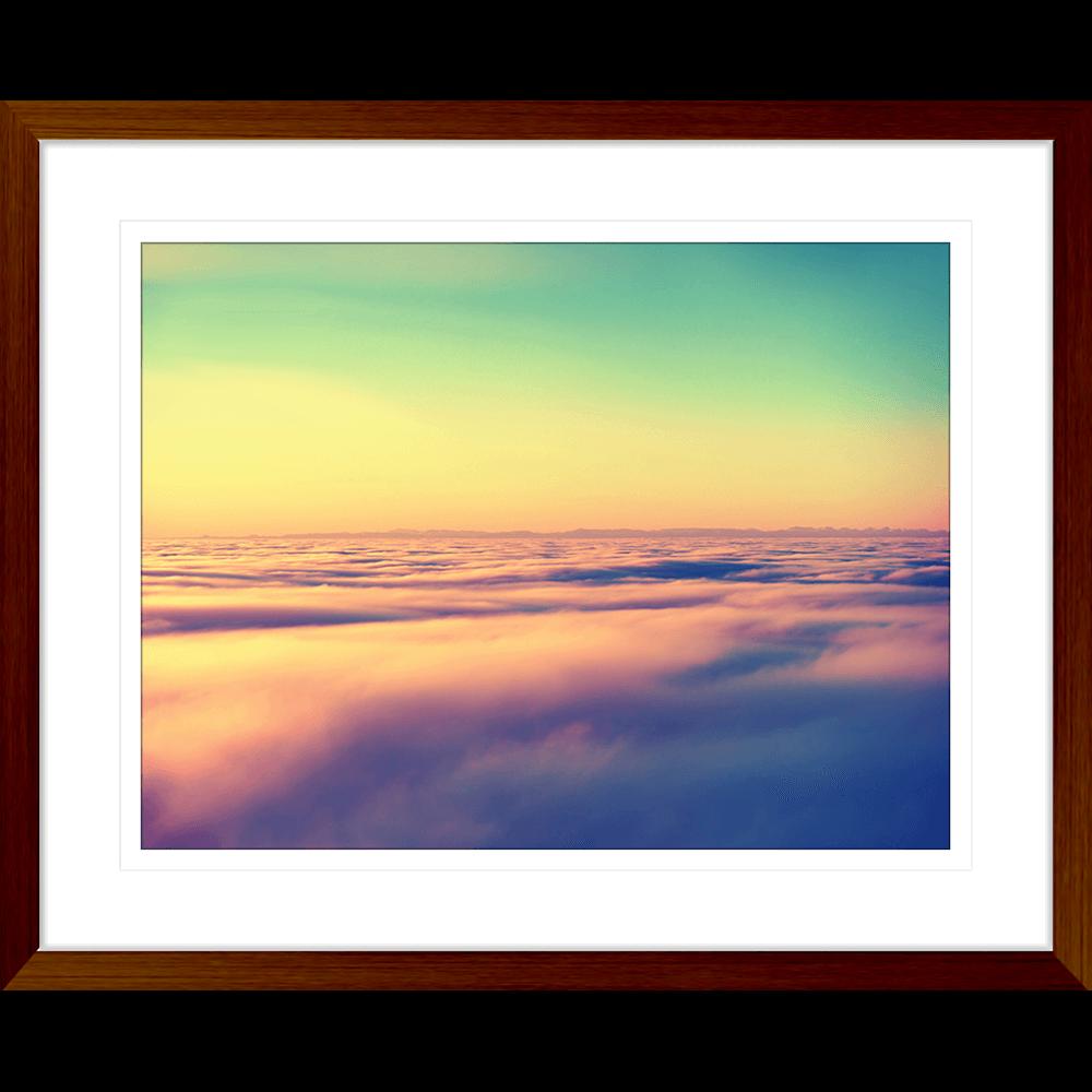 Minds Eye Collection - MINDS05 - Framed Art Print Teak