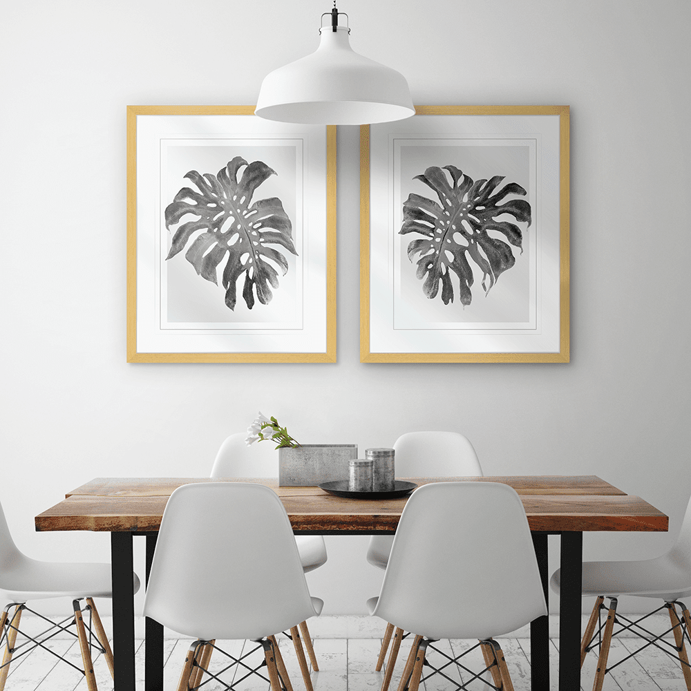 Modern Monstera Collection - MON01 02 - Styled Room
