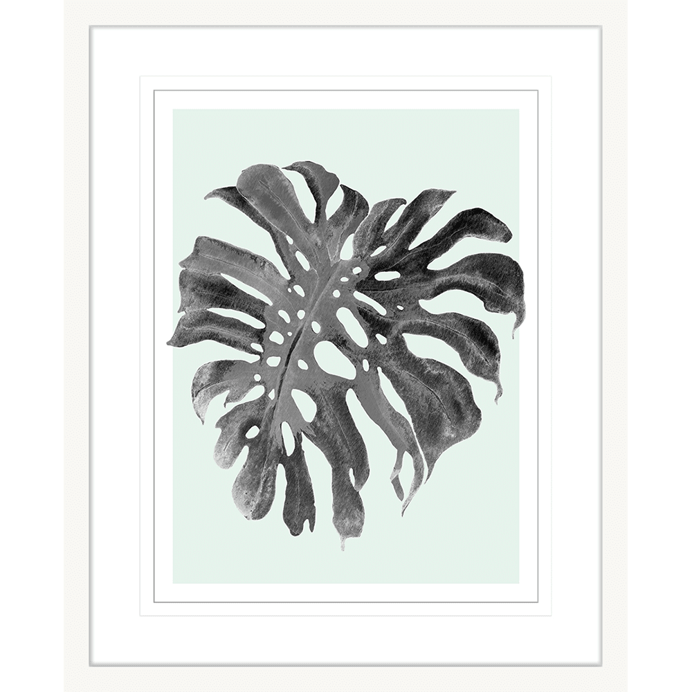 Modern Monstera Collection - MON05 - Framed Art Print White