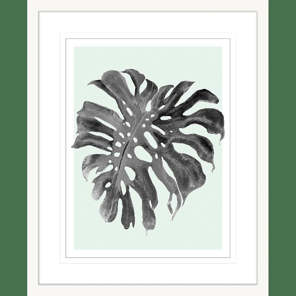 Modern Monstera Collection - MON05 - Framed Art Print White