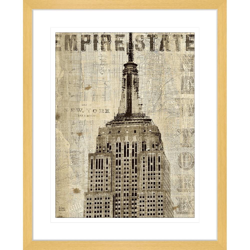 'Empire State' Vintage NY | Framed Art | Wall Art Gold Coast | Wallpaper | Innovate Interiors