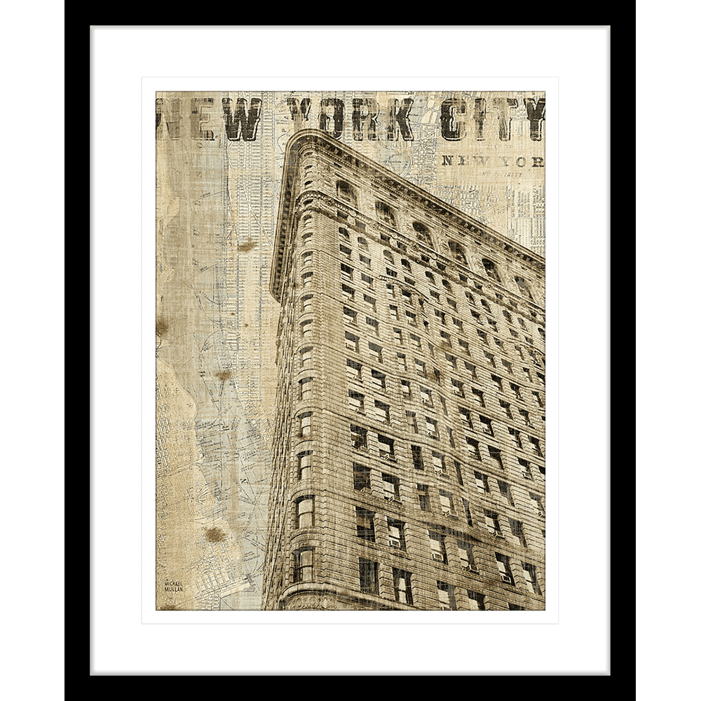 'Flat Iron' Vintage NY | Framed Art | Wall Art Gold Coast | Wallpaper | Innovate Interiors