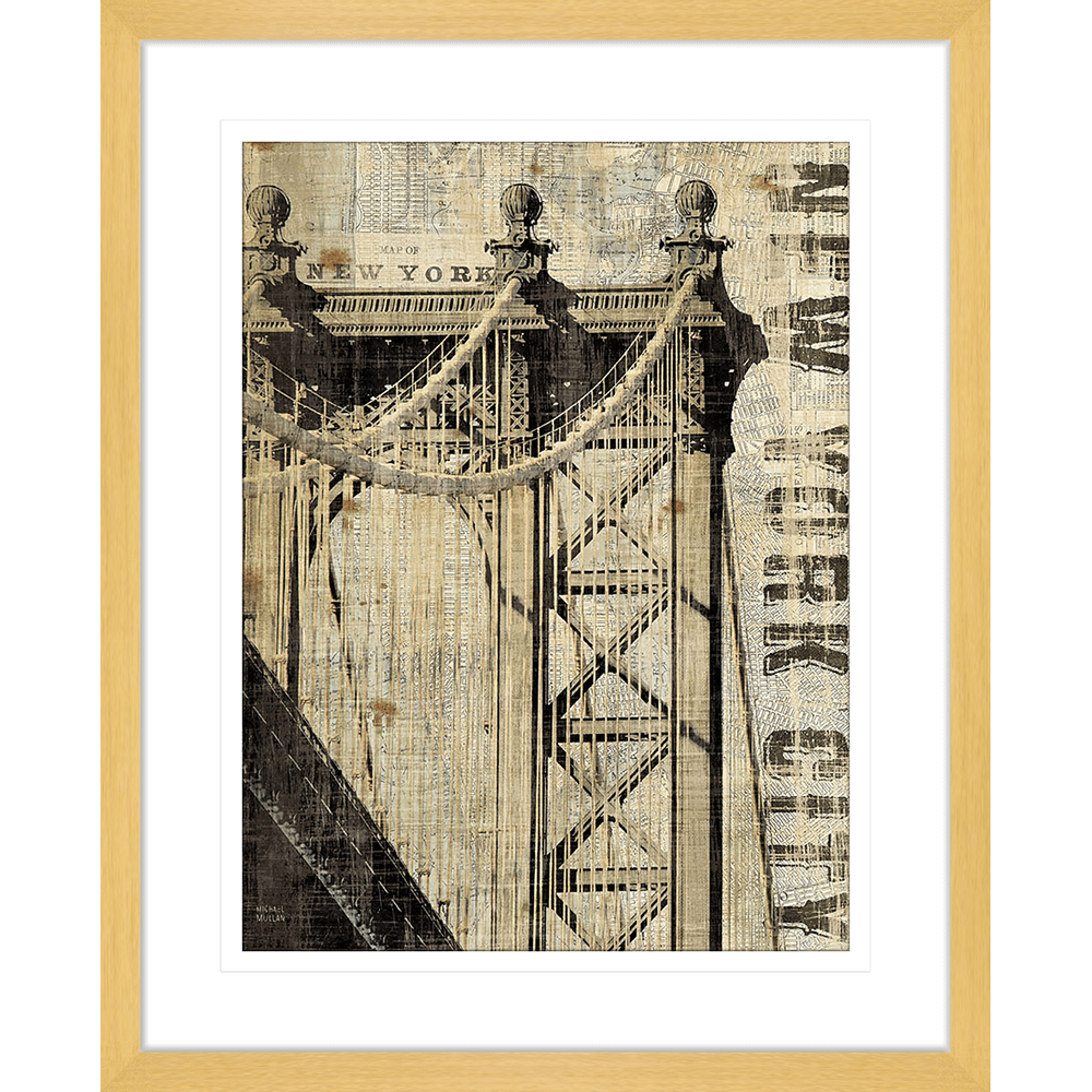 'Manhattan' Vintage NY | Framed Art | Wall Art Gold Coast | Wallpaper | Innovate Interiors