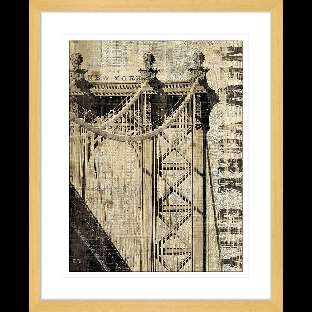 'Manhattan' Vintage NY | Framed Art | Wall Art Gold Coast | Wallpaper | Innovate Interiors