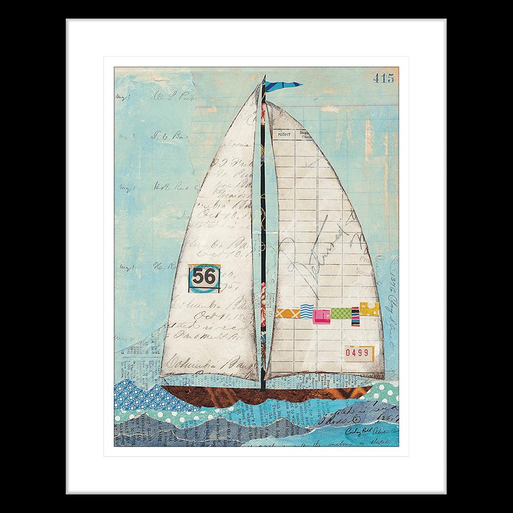 'At the Regatta' Sailing Collage | Framed Art | Wall Art Gold Coast | Wallpaper | Innovate Interiors