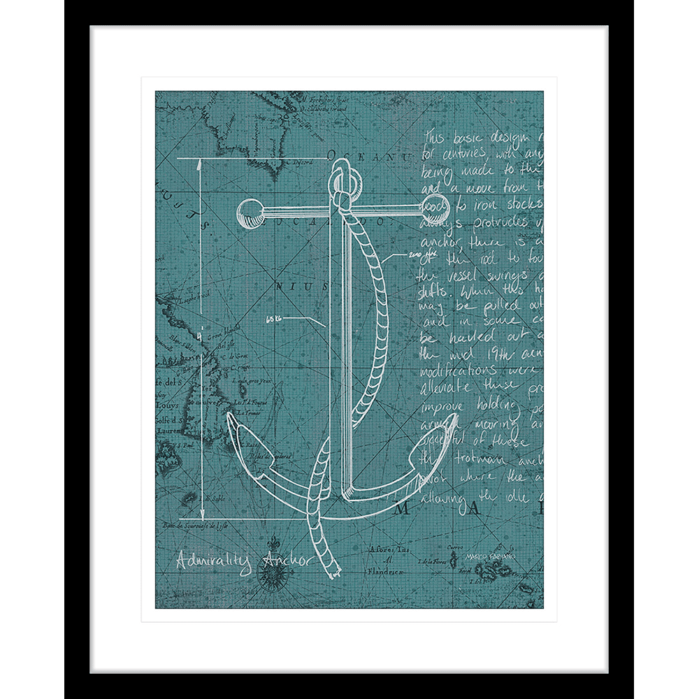 'Coastal Blueprint V' Nautical Navigation | Framed Art | Wall Art Gold Coast | Wallpaper | Innovate Interiors