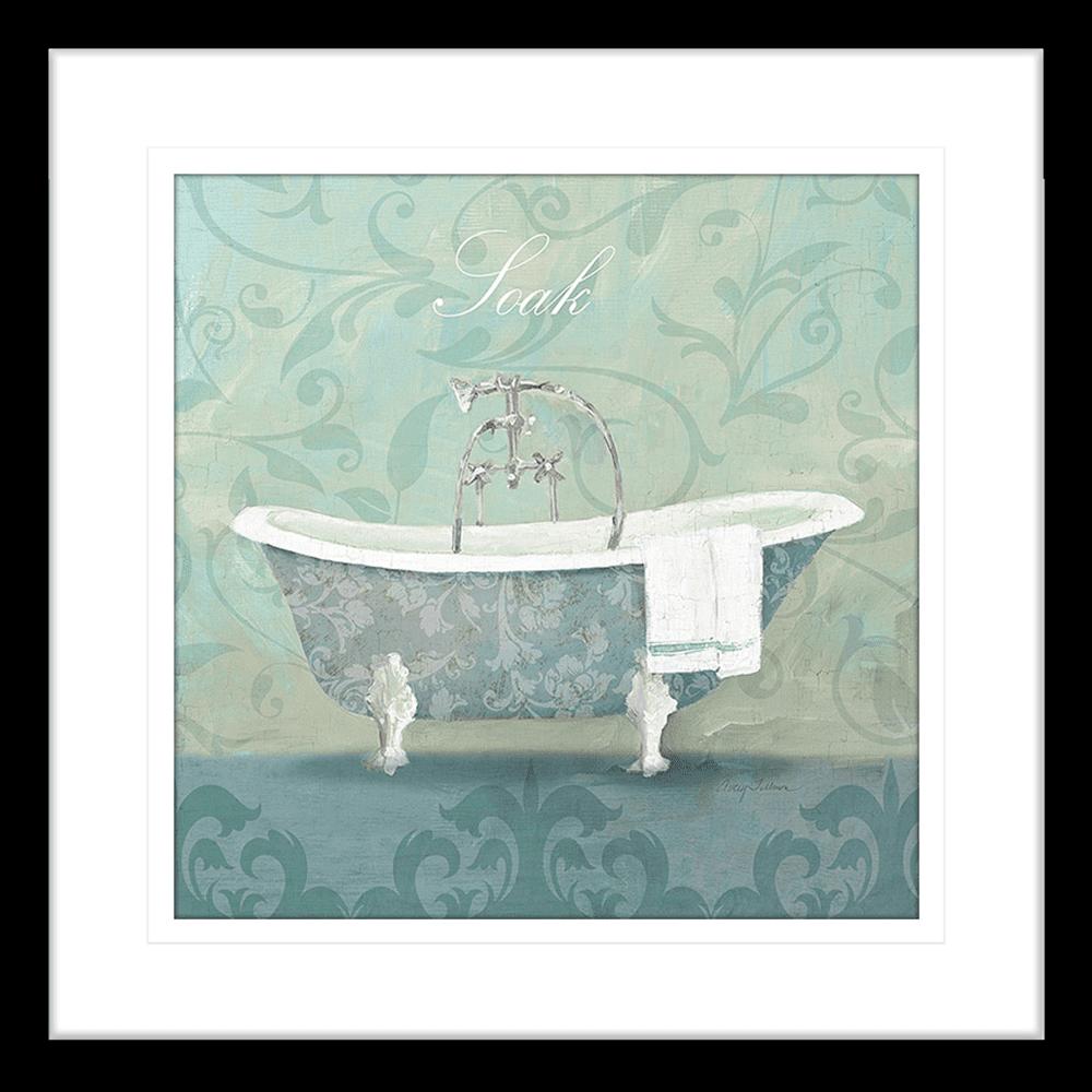 'Bath Tub' Damask Bathroom | Framed Art | Wall Art Gold Coast | Wallpaper | Innovate Interiors