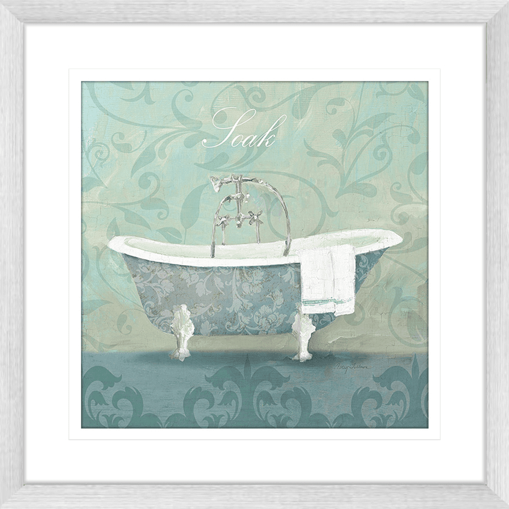'Bath Tub' Damask Bathroom | Framed Art | Wall Art Gold Coast | Wallpaper | Innovate Interiors