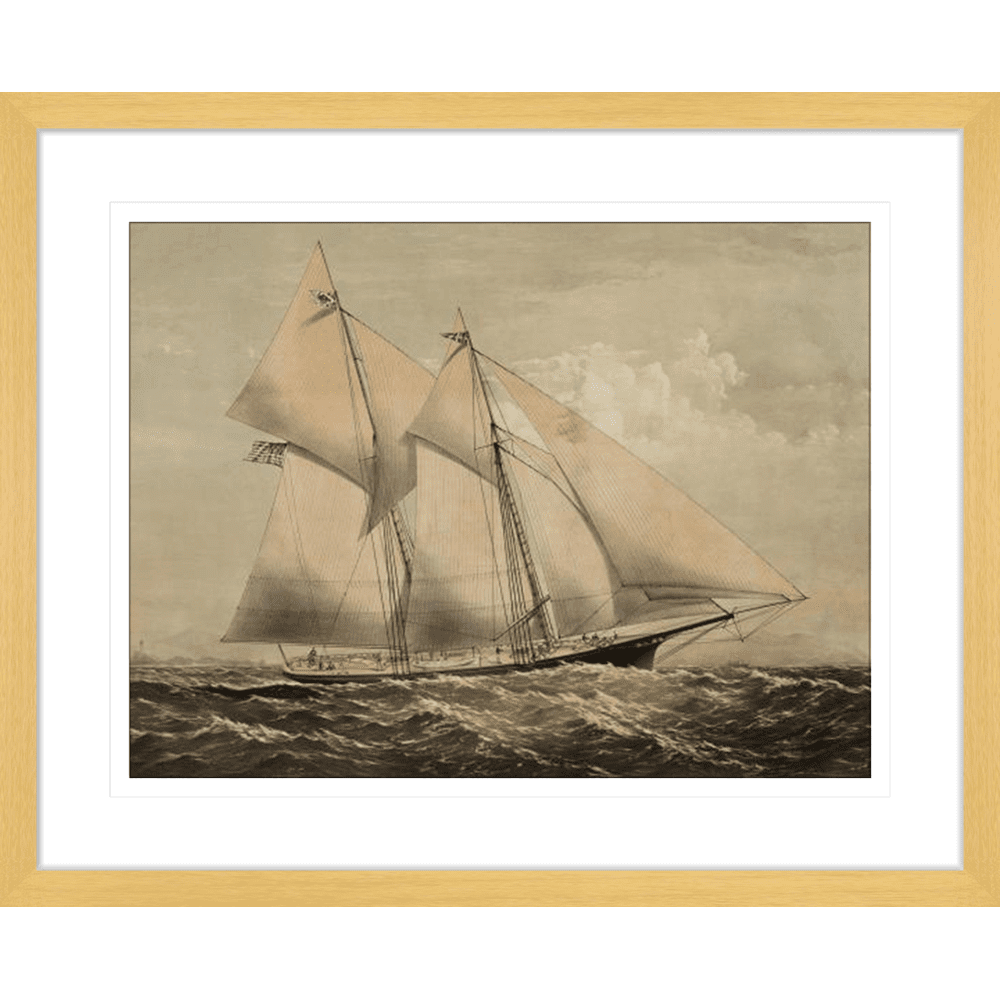 'The Yacht II' Vintage Sailing | Framed Art | Wall Art Gold Coast | Wallpaper | Innovate Interiors