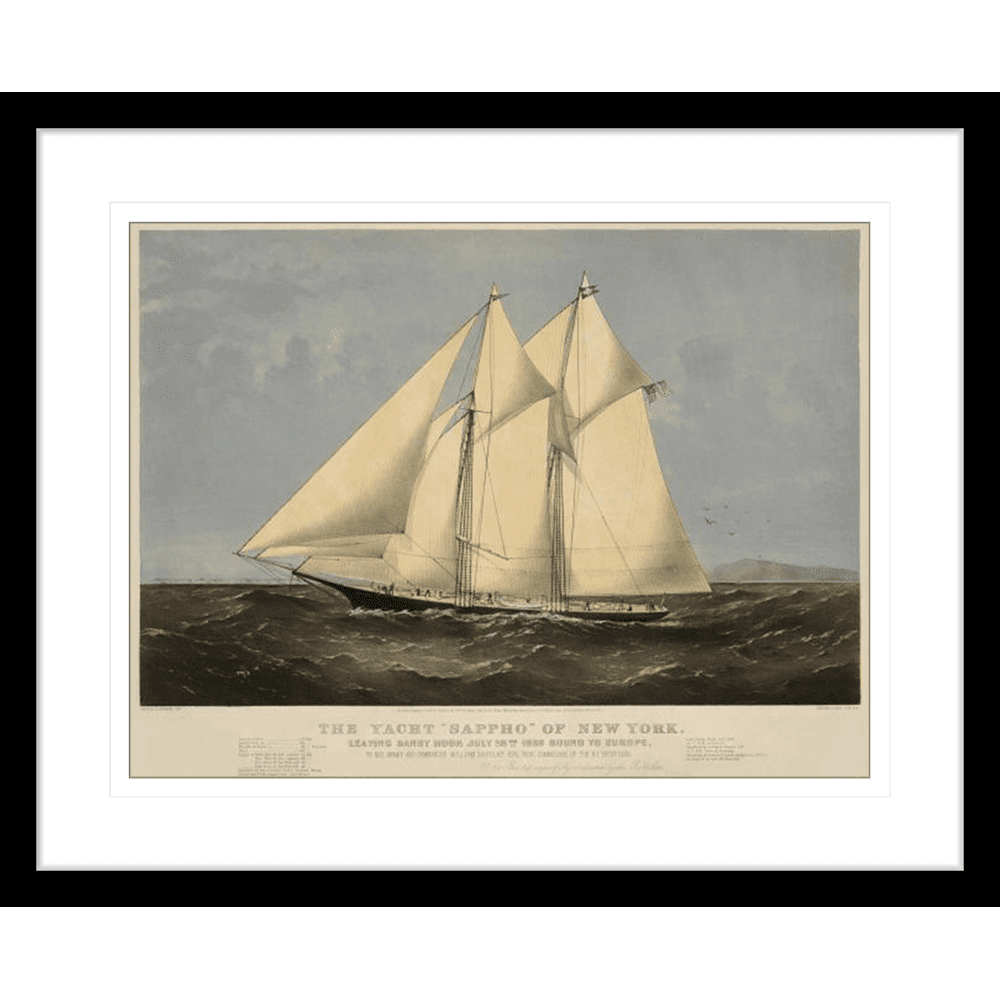 342665--600 ratio .67 The Yacht Sappho Black