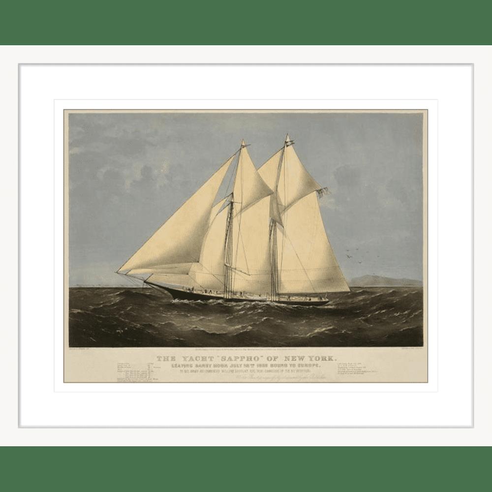 342665--600 ratio .67 The Yacht Sappho White