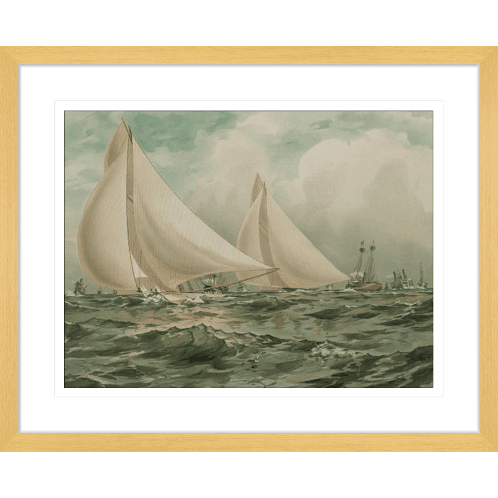 'Vigilant & Valiant' Vintage Sailing | Framed Art | Wall Art Gold Coast | Wallpaper | Innovate Interiors