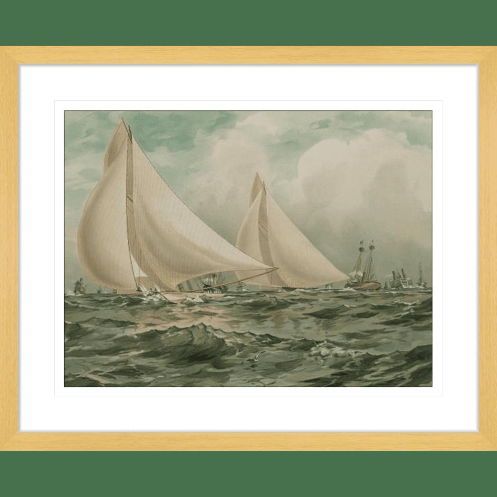 'Vigilant & Valiant' Vintage Sailing | Framed Art | Wall Art Gold Coast | Wallpaper | Innovate Interiors