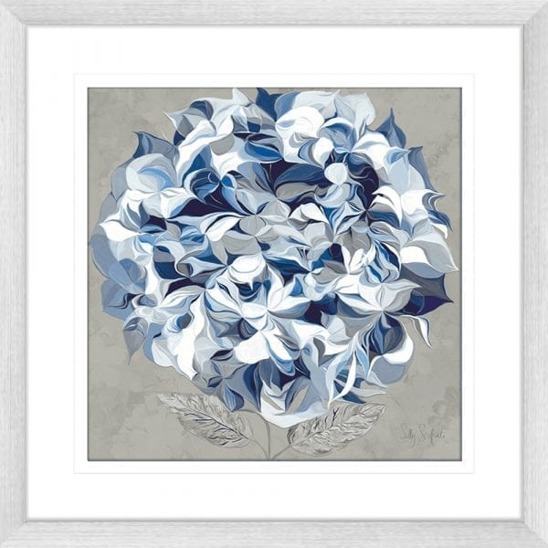 62175ma ELEGANT HYDRANGEA I SIL | Framed Art | Wall Art Gold Coast | Wallpaper | Innovate Interiors