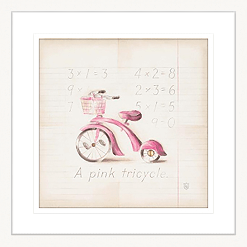 'Tricycle' Youth Expression | Framed Art | Wall Art Gold Coast | Wallpaper | Innovate Interiors