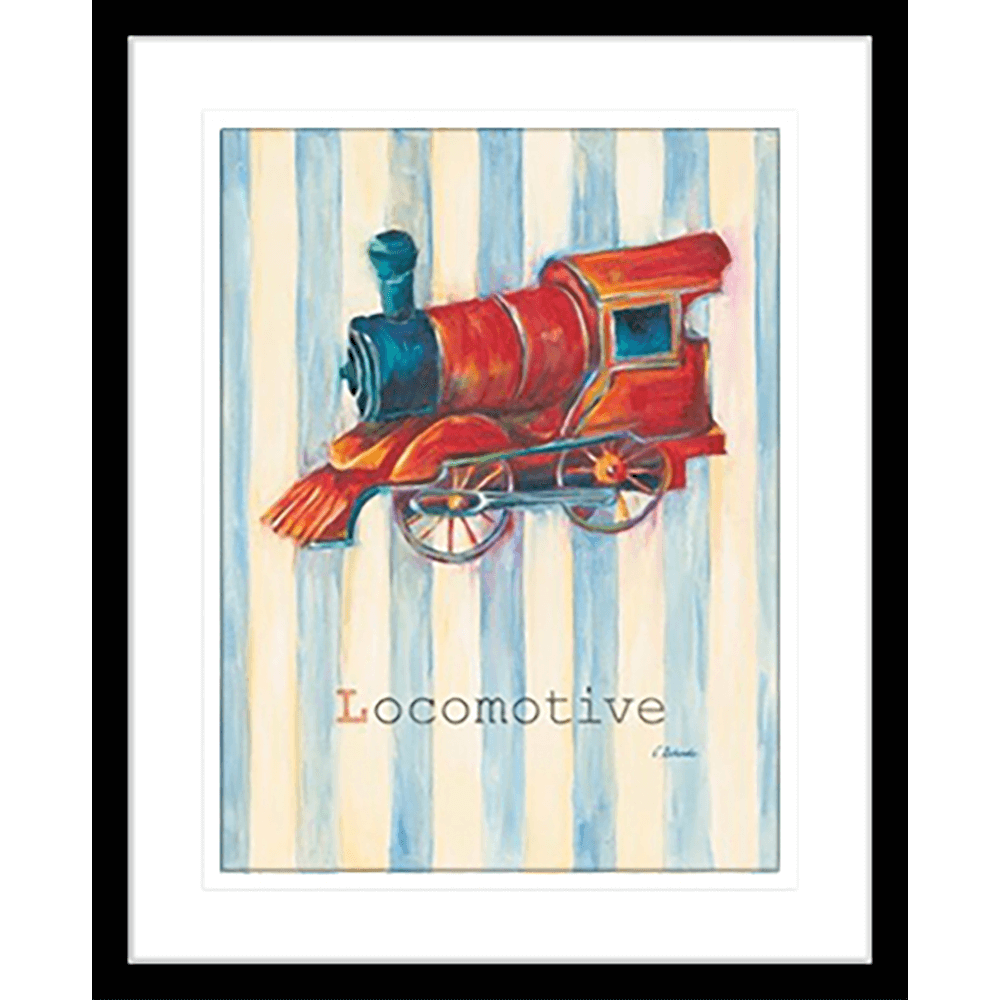 'Locomotive' Boys Toys | Framed Art | Wall Art Gold Coast | Wallpaper | Innovate Interiors
