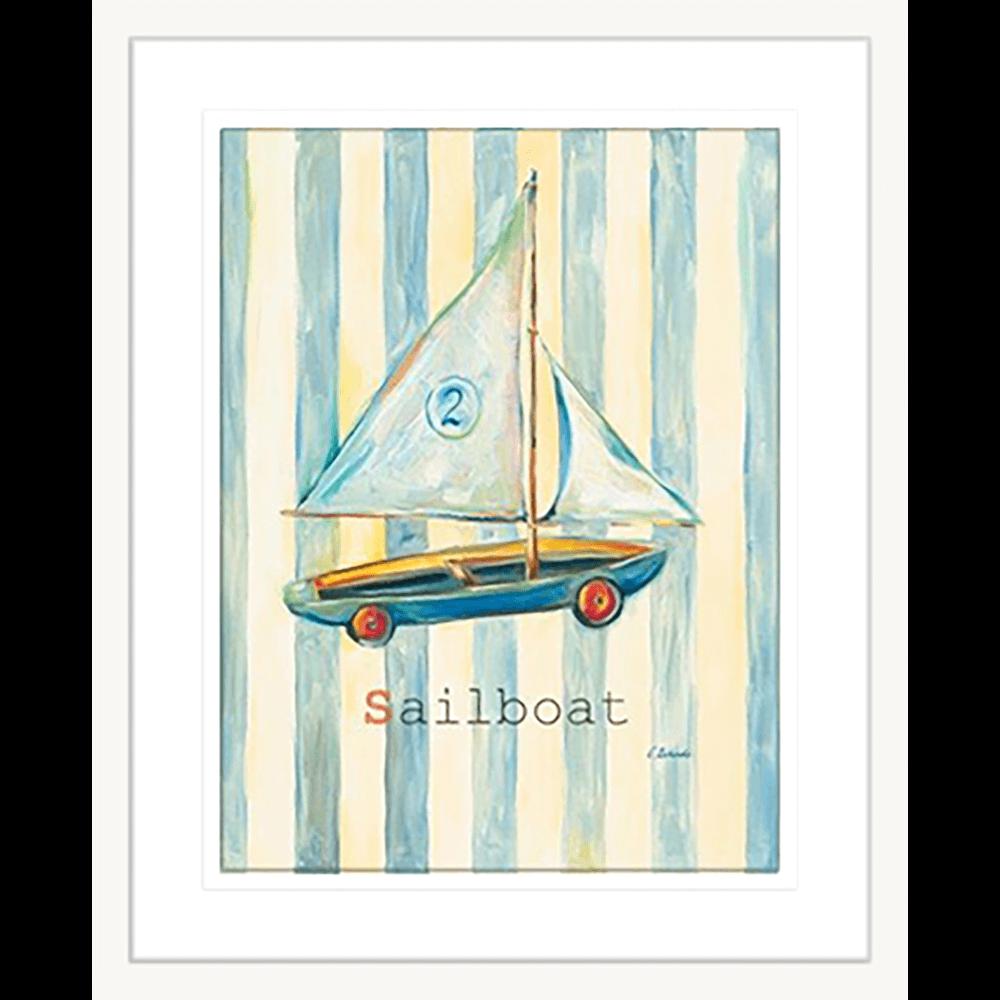 'Sailboat' Boys Toys| Framed Art | Wall Art Gold Coast | Wallpaper | Innovate Interiors