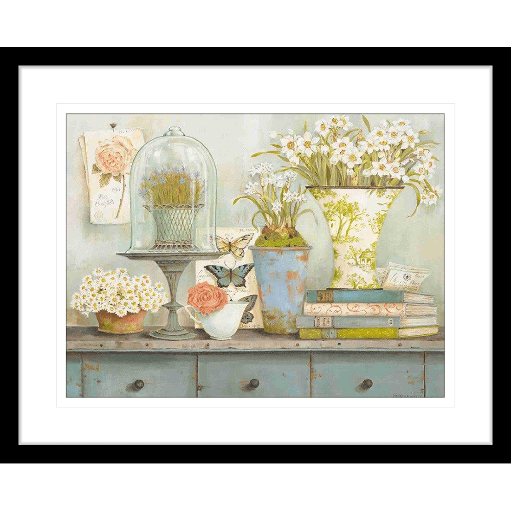 Cottage Vignette | Framed Art | Wall Art Gold Coast | Wallpaper | Innovate Interiors