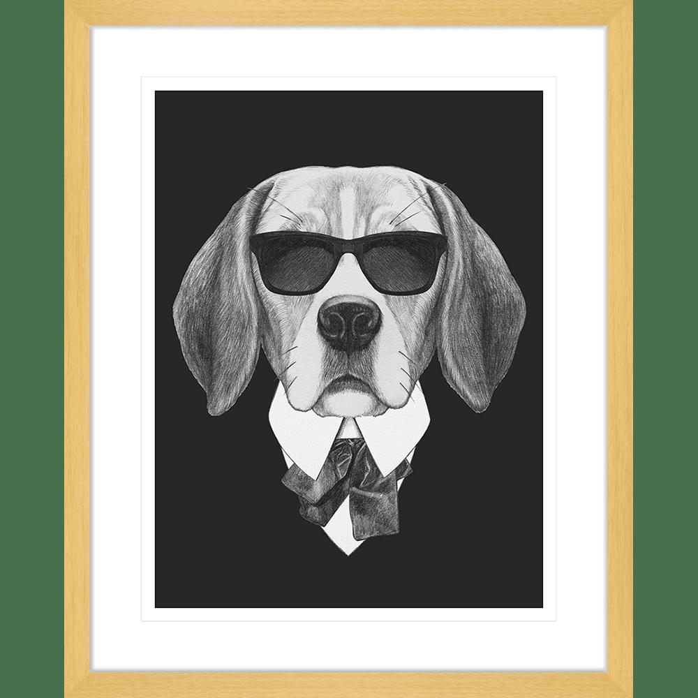 Agent Ruff Collection - AGENT01 - Framed Art Print Oak