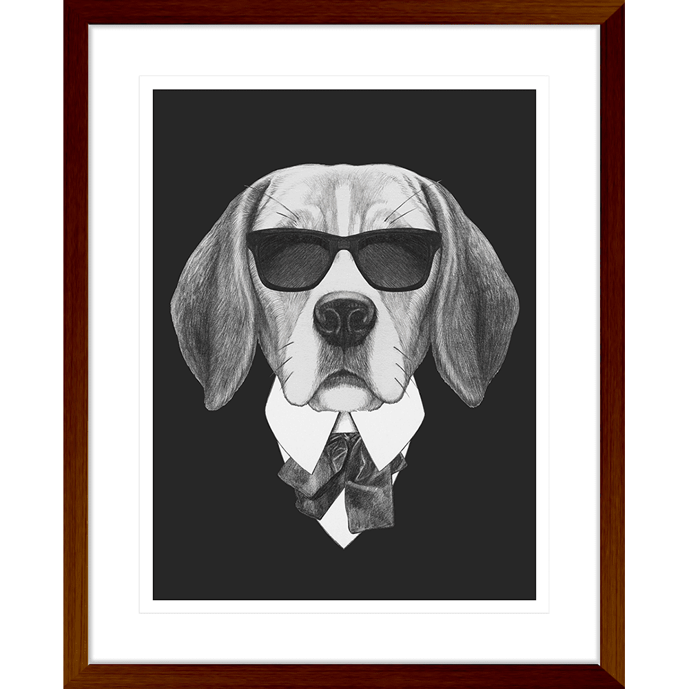 Agent Ruff Collection - AGENT01 - Framed Art Print Teak