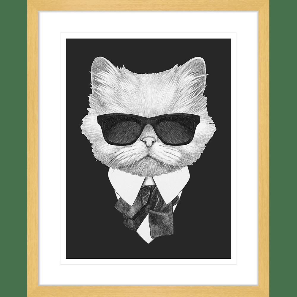 Agent Ruff Collection - AGENT02 - Framed Art Print Oak