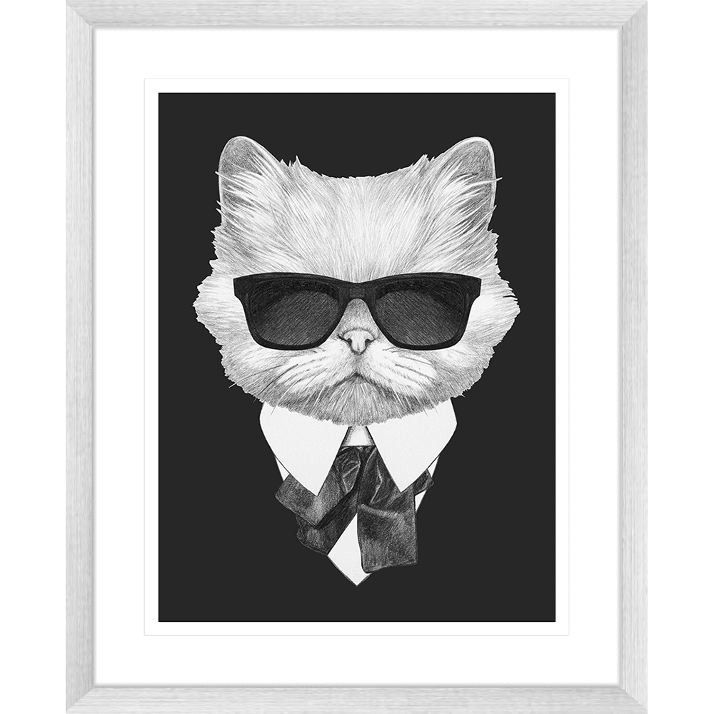 Agent Ruff Collection - AGENT02 - Framed Art Print Silver