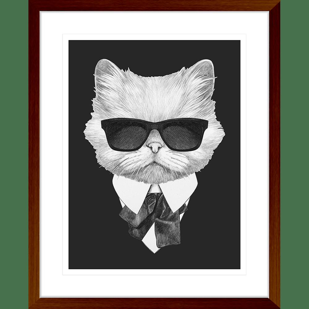 Agent Ruff Collection - AGENT02 - Framed Art Print Teak