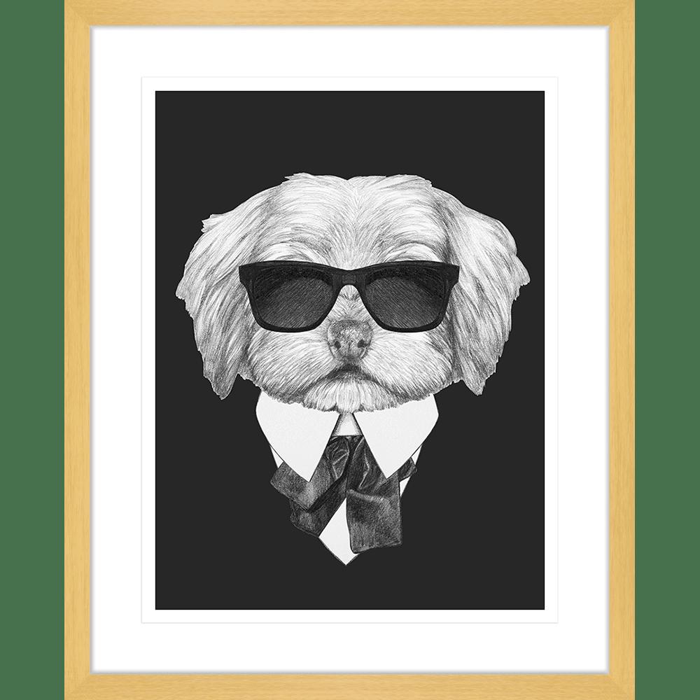 Agent Ruff Collection - AGENT03 - Framed Art Print Oak