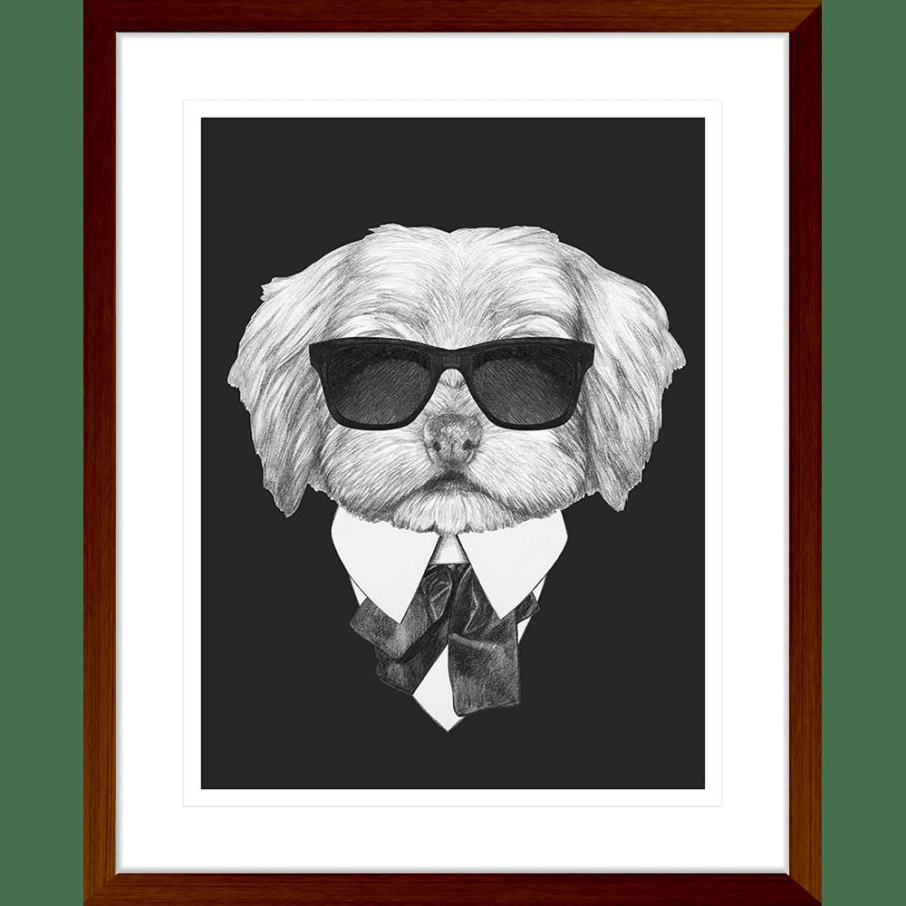 Agent Ruff Collection - AGENT03 - Framed Art Print Teak