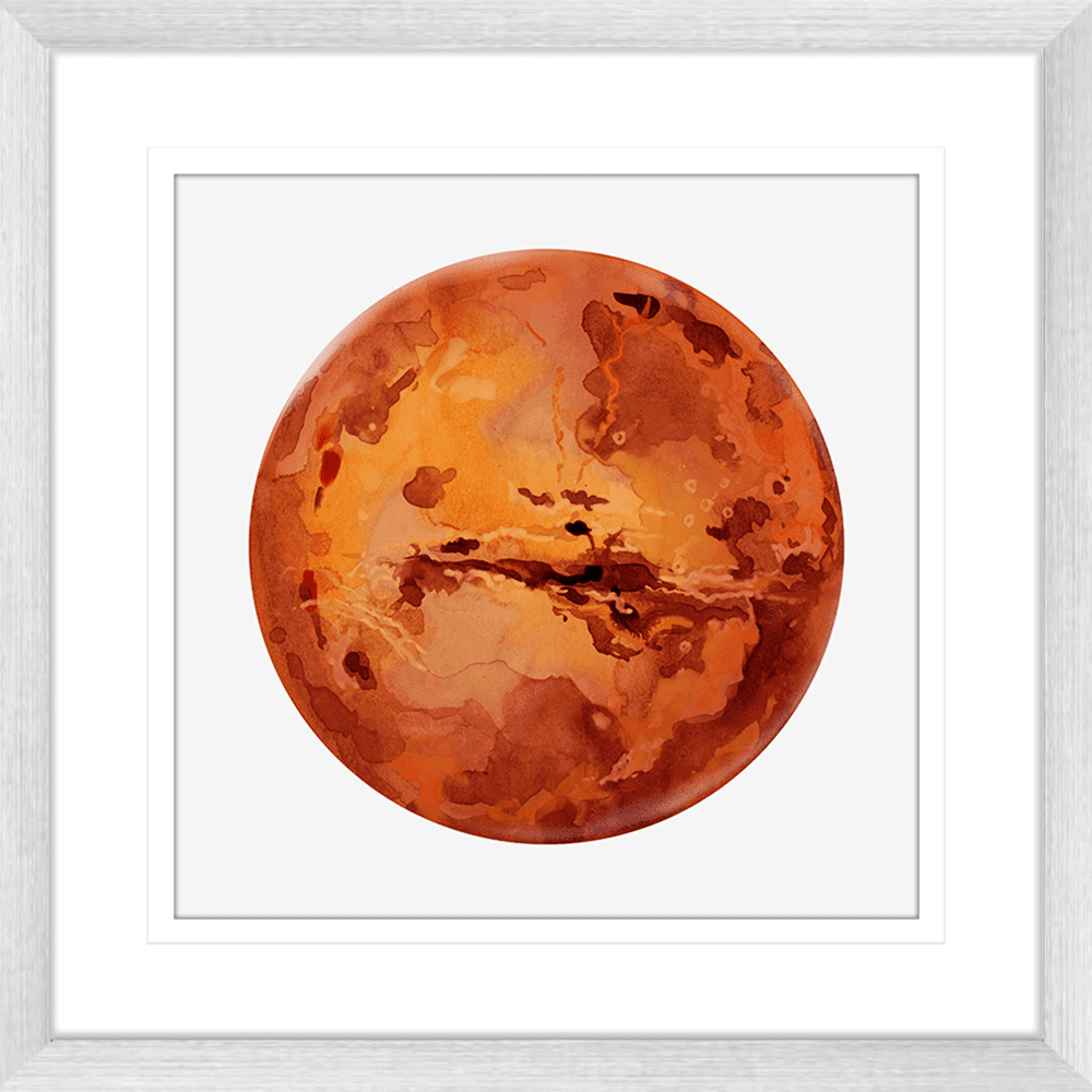 Astronauts & Asteroids Collection - ASTRO01 - Framed Art Print Silver