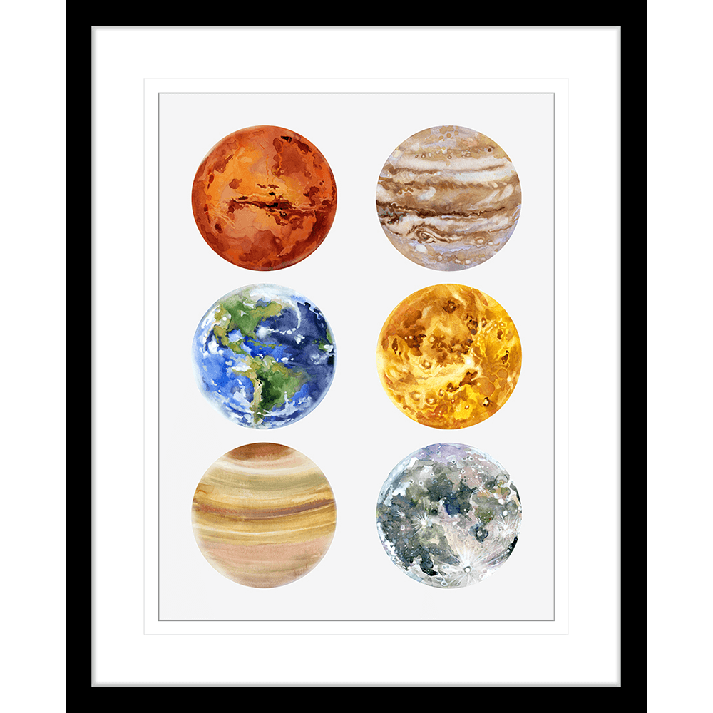 Astronauts & Asteroids | Framed Art | Wall Art Gold Coast | Wallpaper | Innovate Interiors