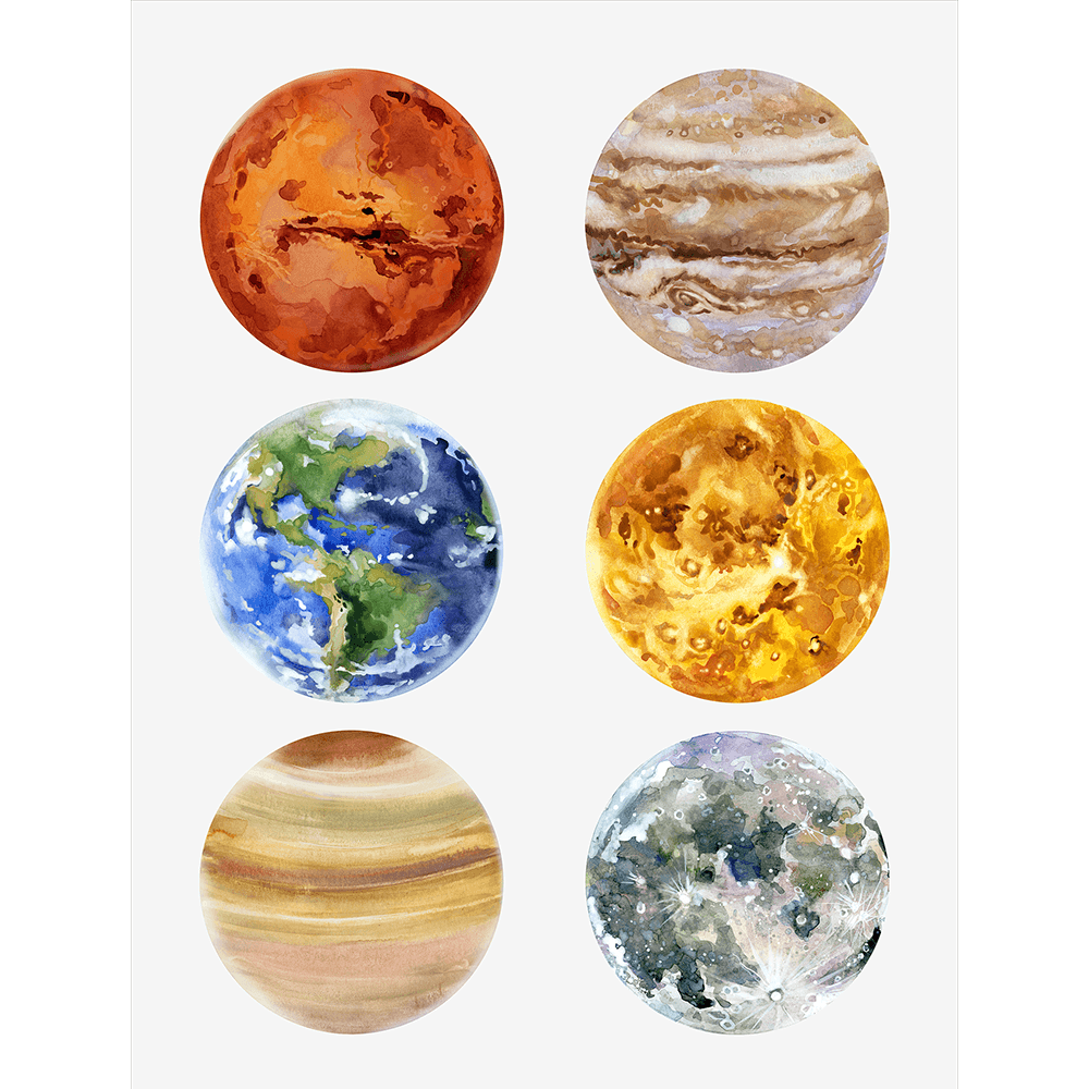Astronauts & Asteroids Collection - ASTRO05 X- Stretched Canvas & Paper Print