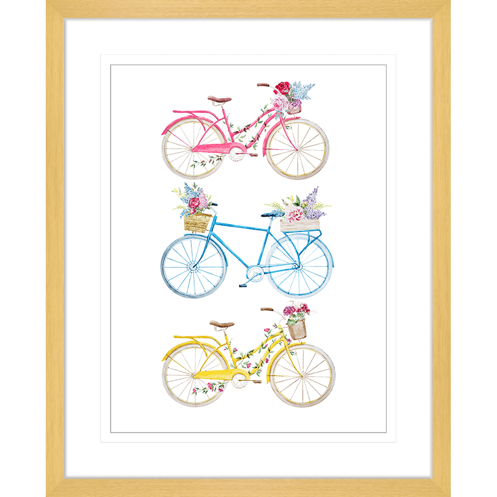 Bicycle Lane Collection - BICY01 - Framed Art Print Oak