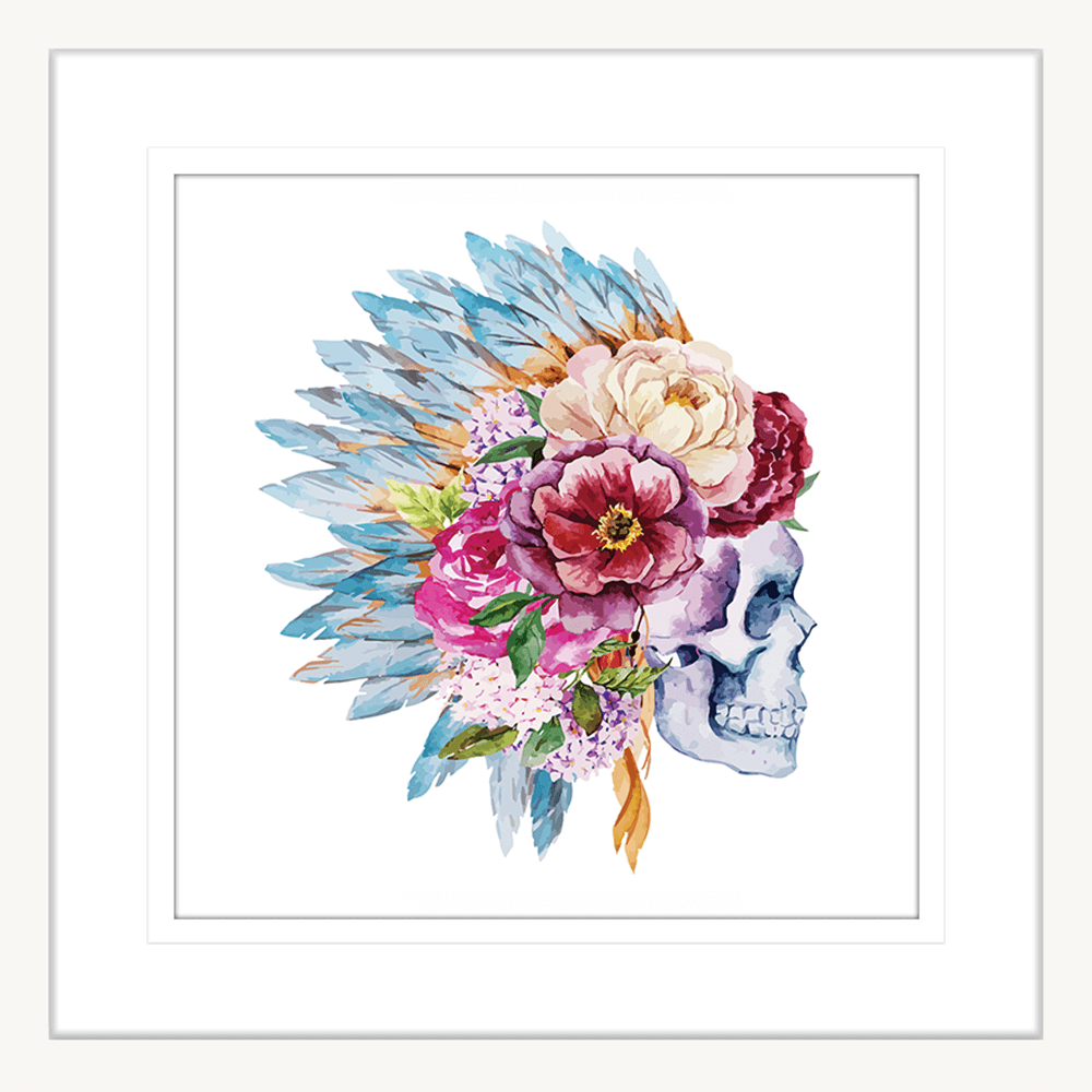 Dream Catcher Collection - DREAM04 - Framed Art Print White