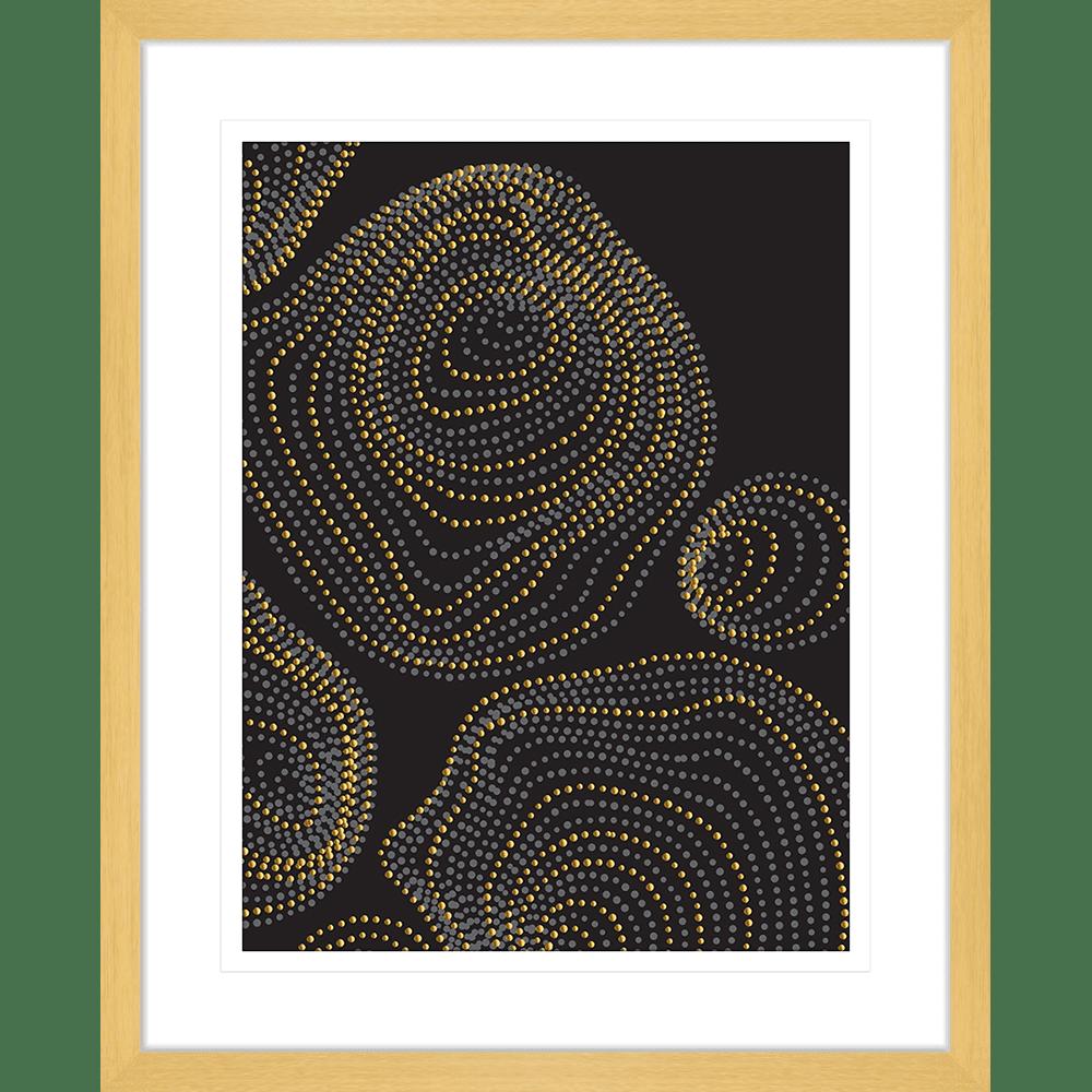 Forces Collection - FORC01 - Framed Art Print Oak