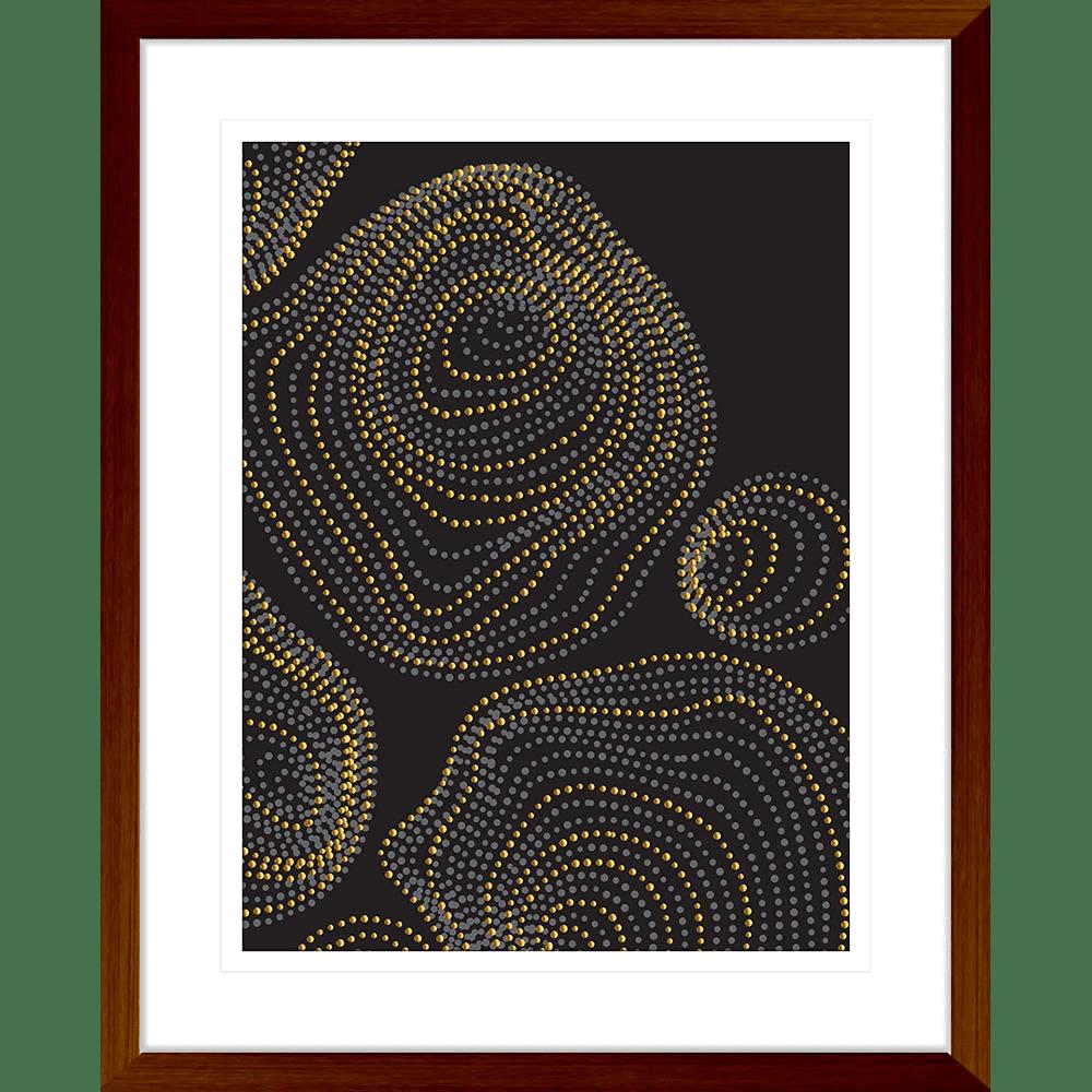Forces Collection - FORC01 - Framed Art Print Teak
