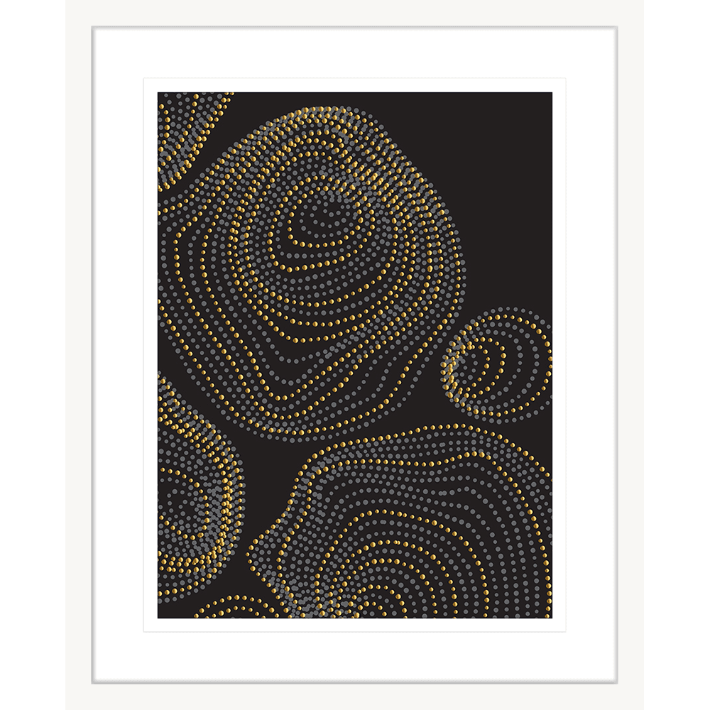 Forces Collection - FORC01 - Framed Art Print White