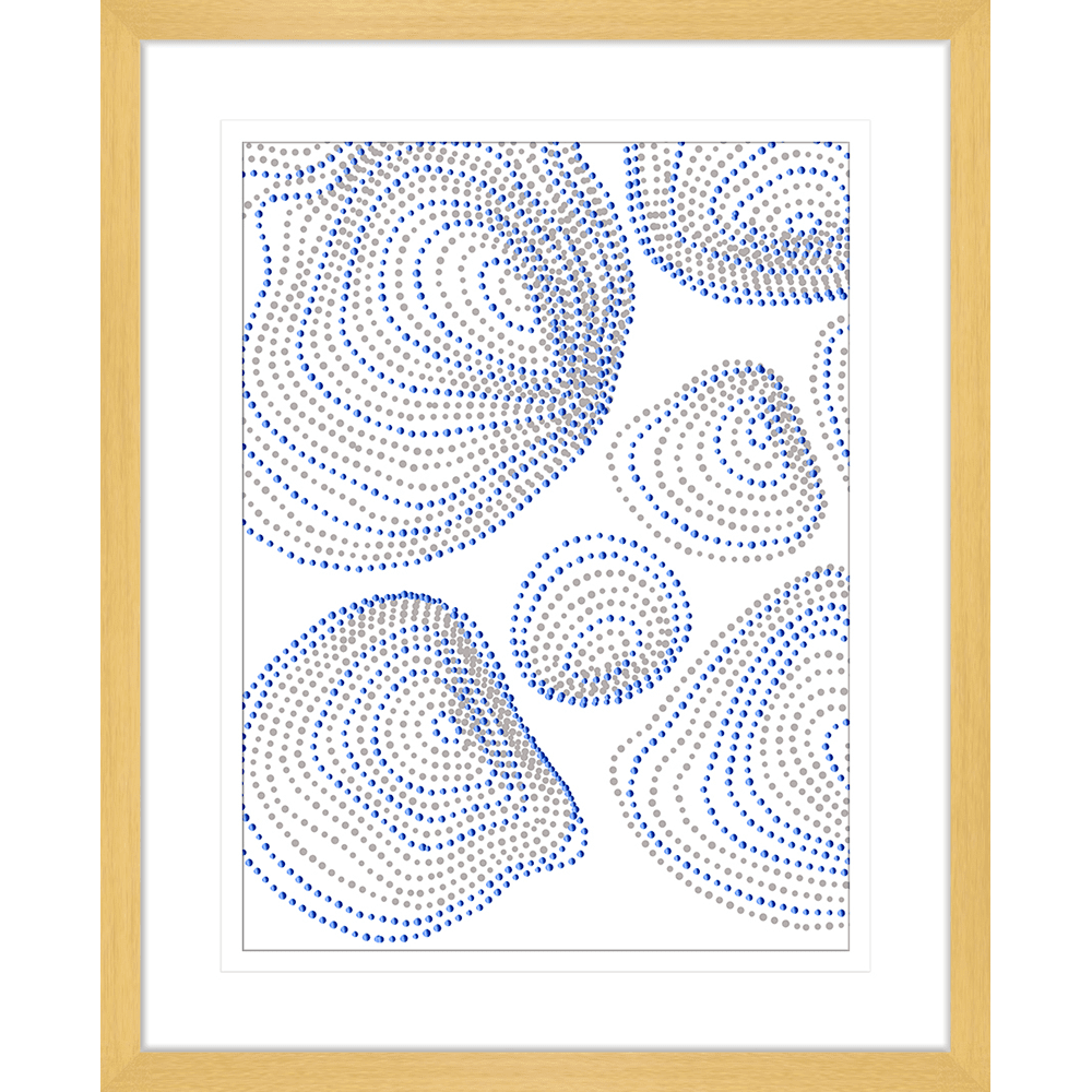 Forces Collection - FORC03 - Framed Art Print Oak