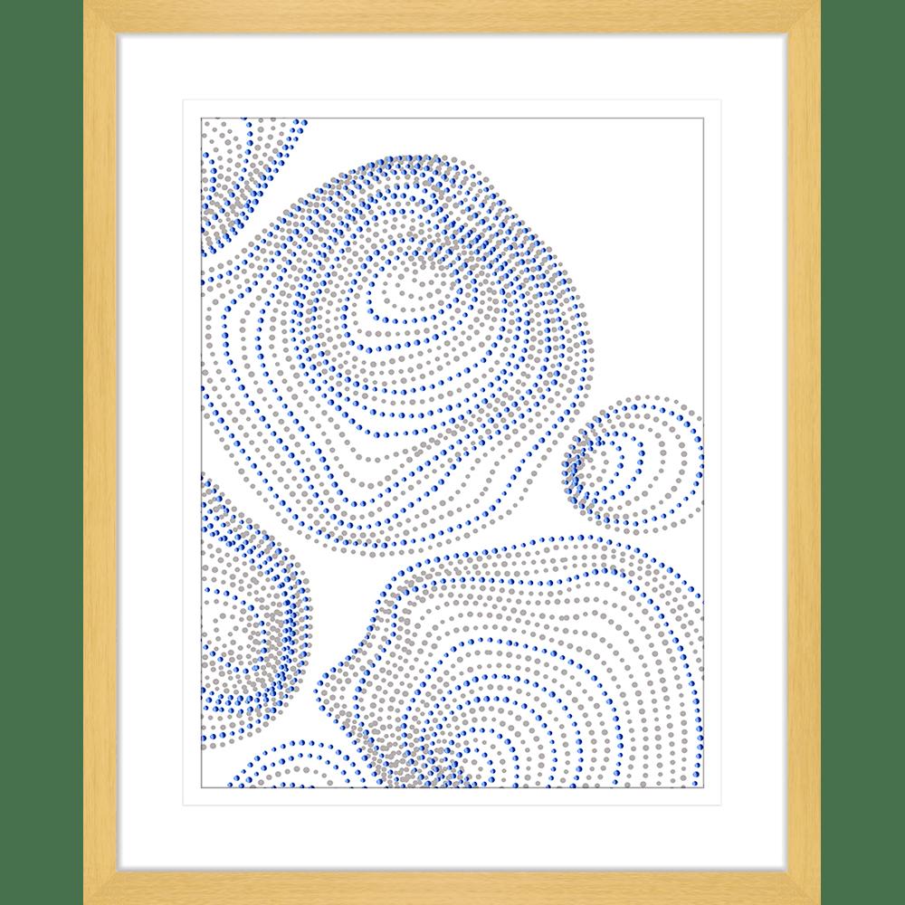 Forces Collection - FORC04 - Framed Art Print Oak