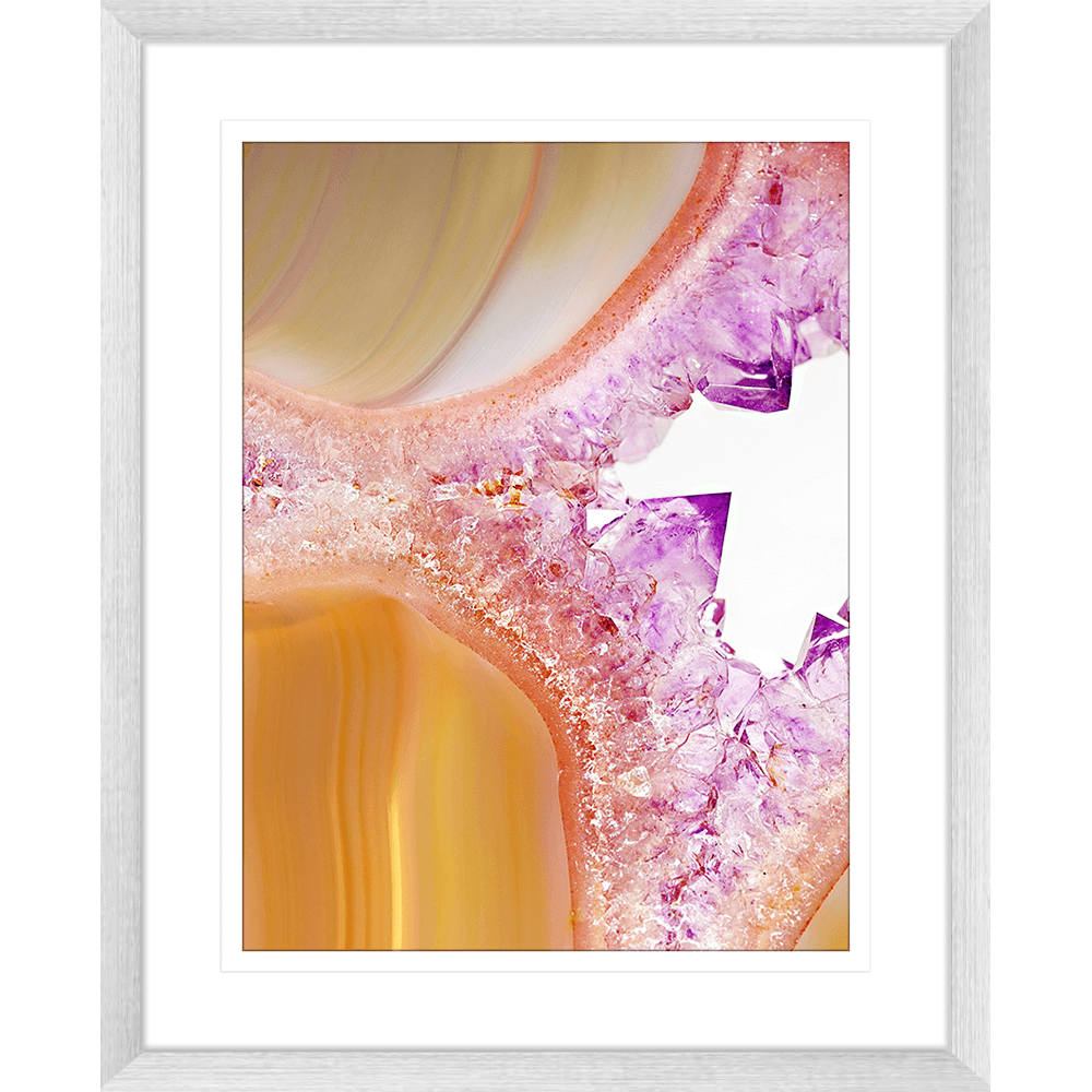 Metallic Magnetism Collection - MAG02 - Framed Art Print Silver