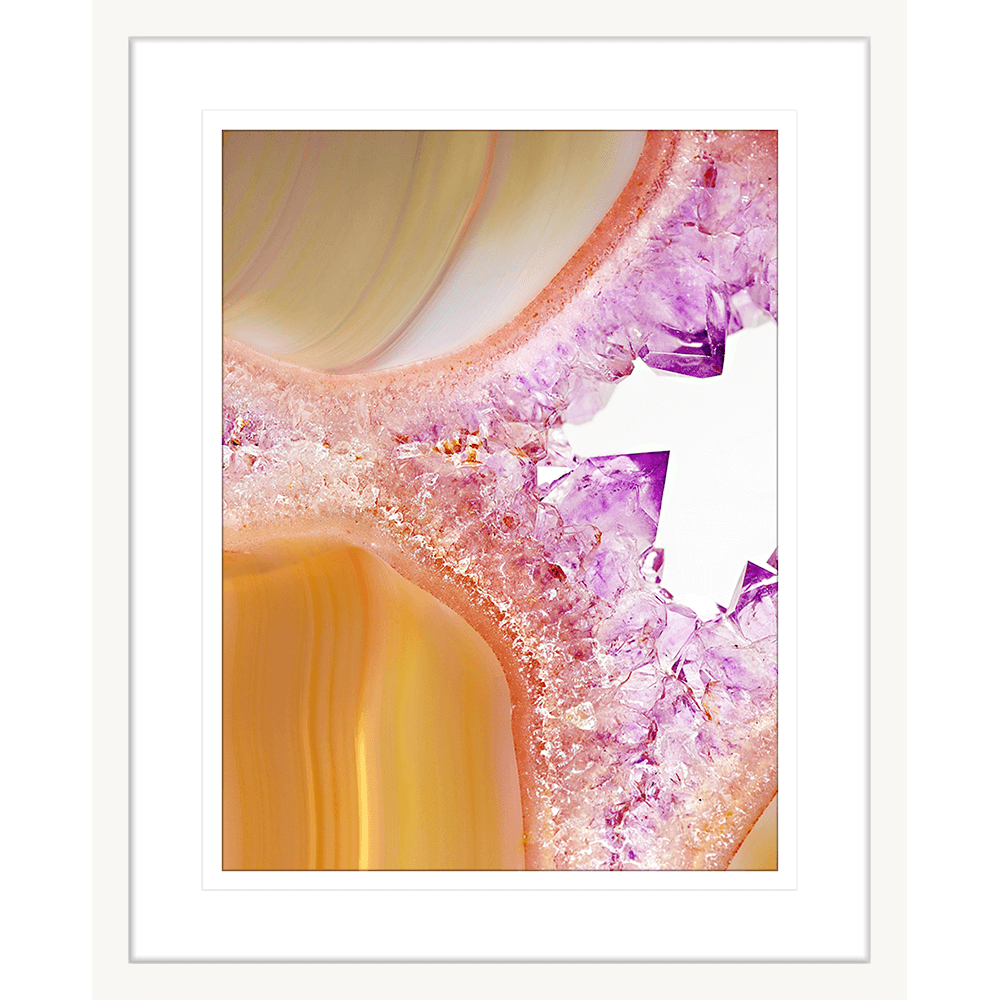 Metallic Magnetism Collection - MAG02 - Framed Art Print White