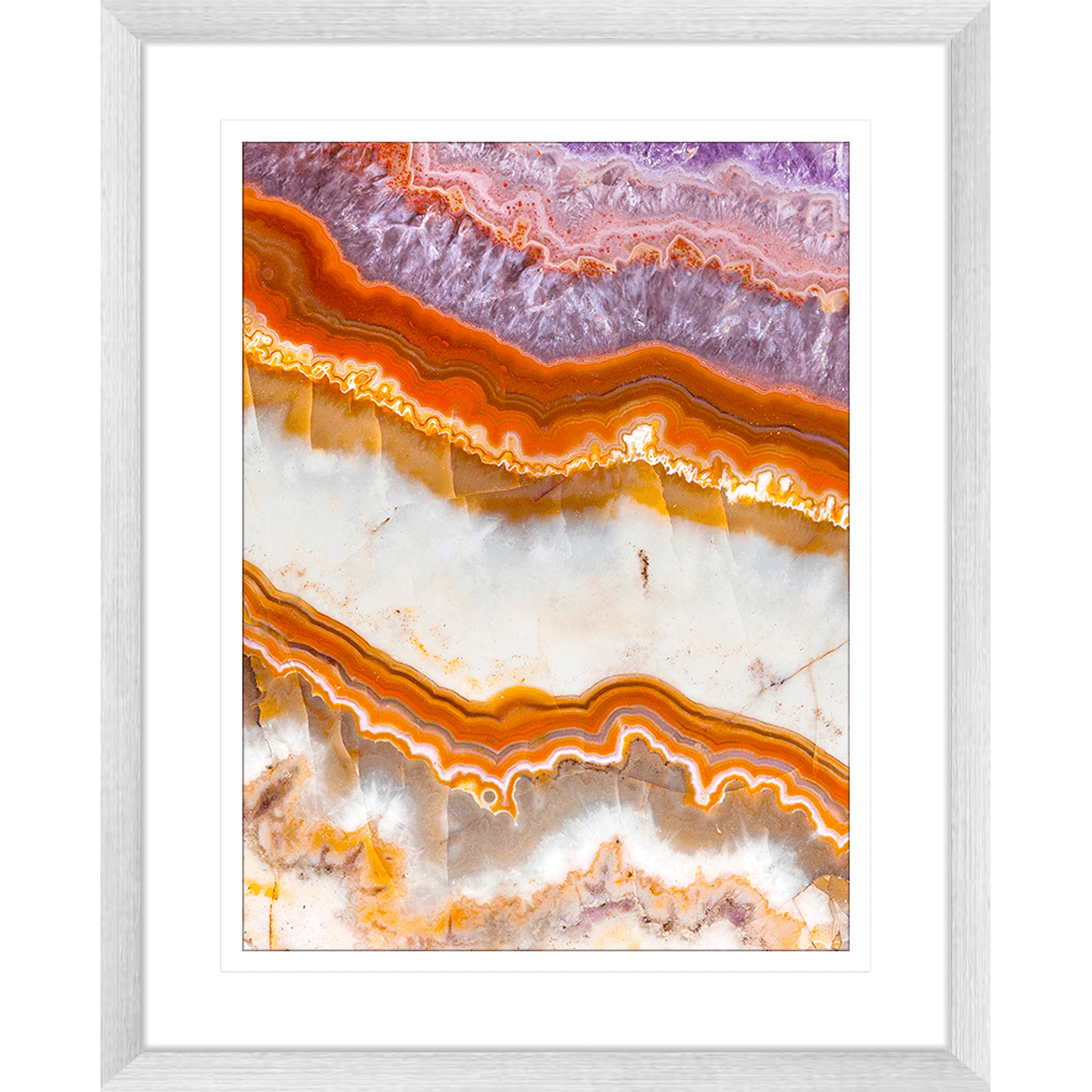 Metallic Magnetism Collection - MAG03 - Framed Art Print Silver