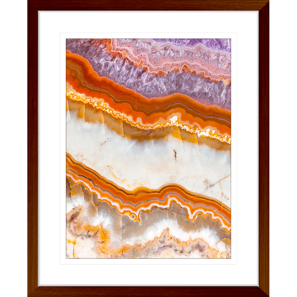 Metallic Magnetism Collection - MAG03 - Framed Art Print Teak