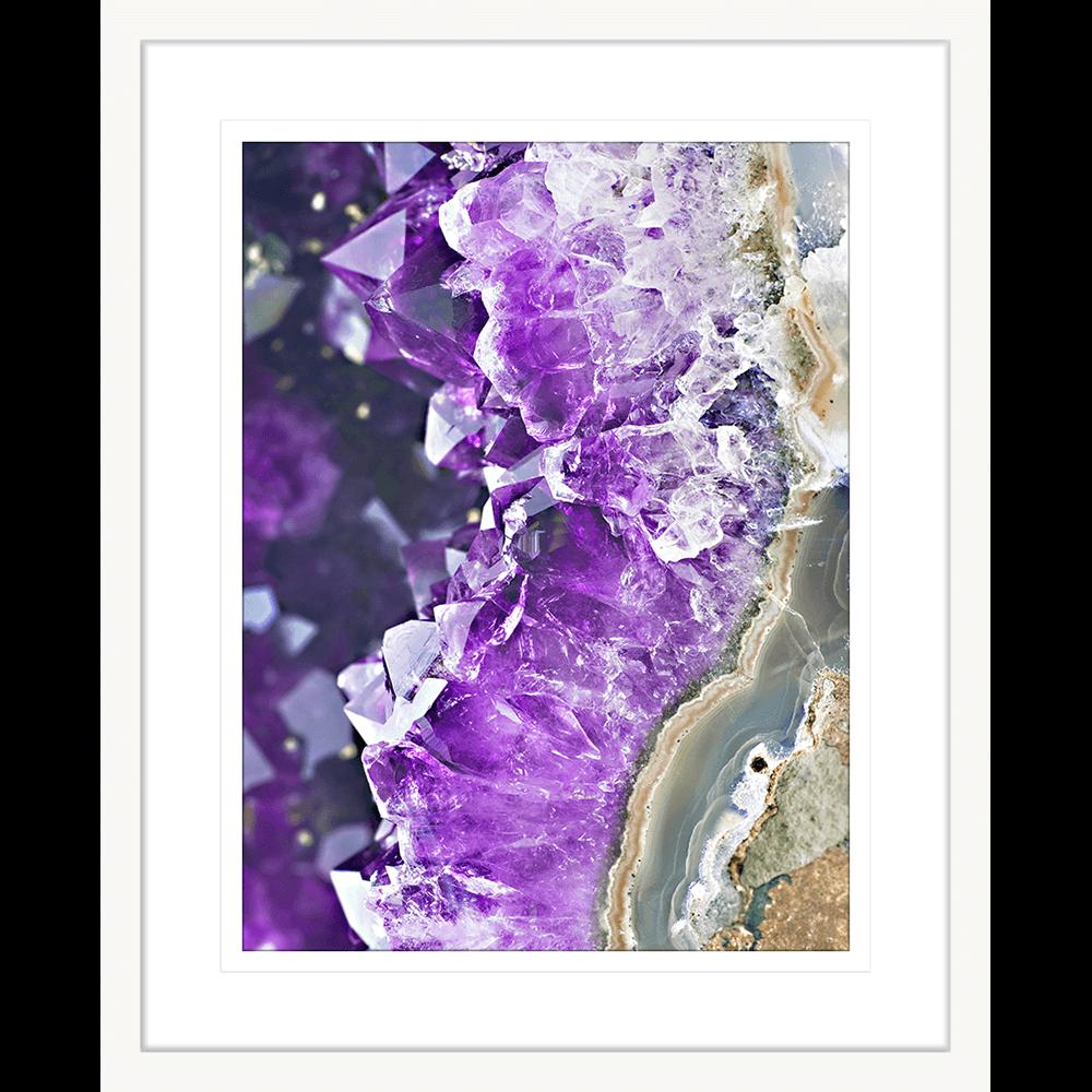 Metallic Magnetism Collection - MAG04 - Framed Art Print White