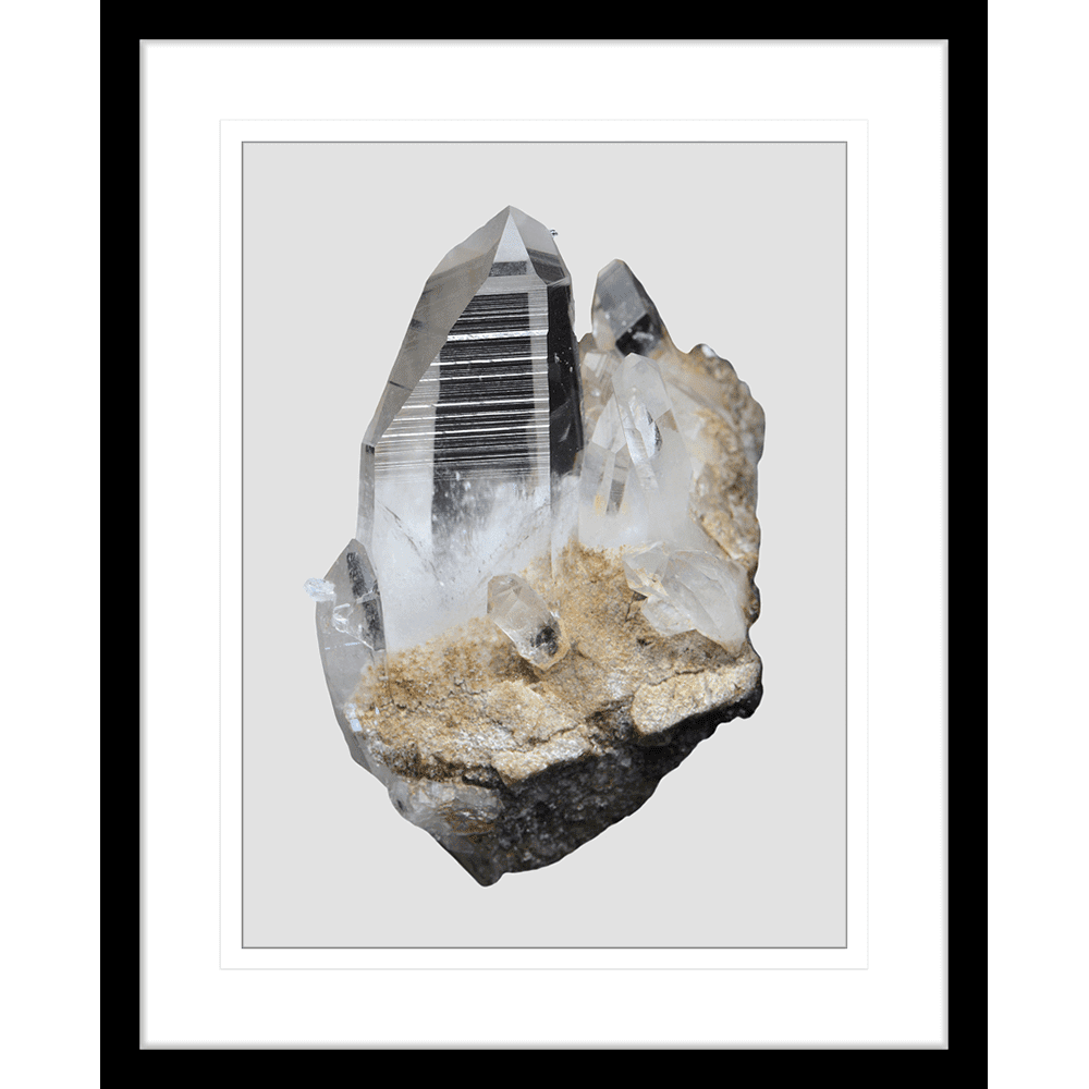 Onyx & Quartz Collection - ONYX02 - Framed Art Print Black