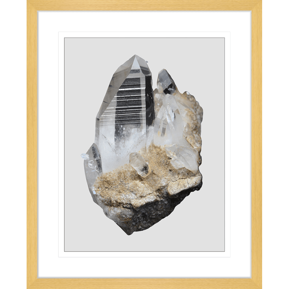 Onyx & Quartz Collection - ONYX02 - Framed Art Print Oak