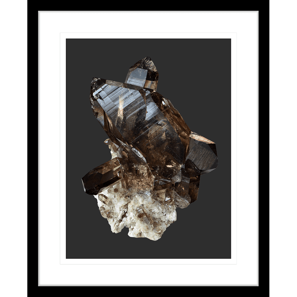 Onyx & Quartz Collection - ONYX03 - Framed Art Print Black
