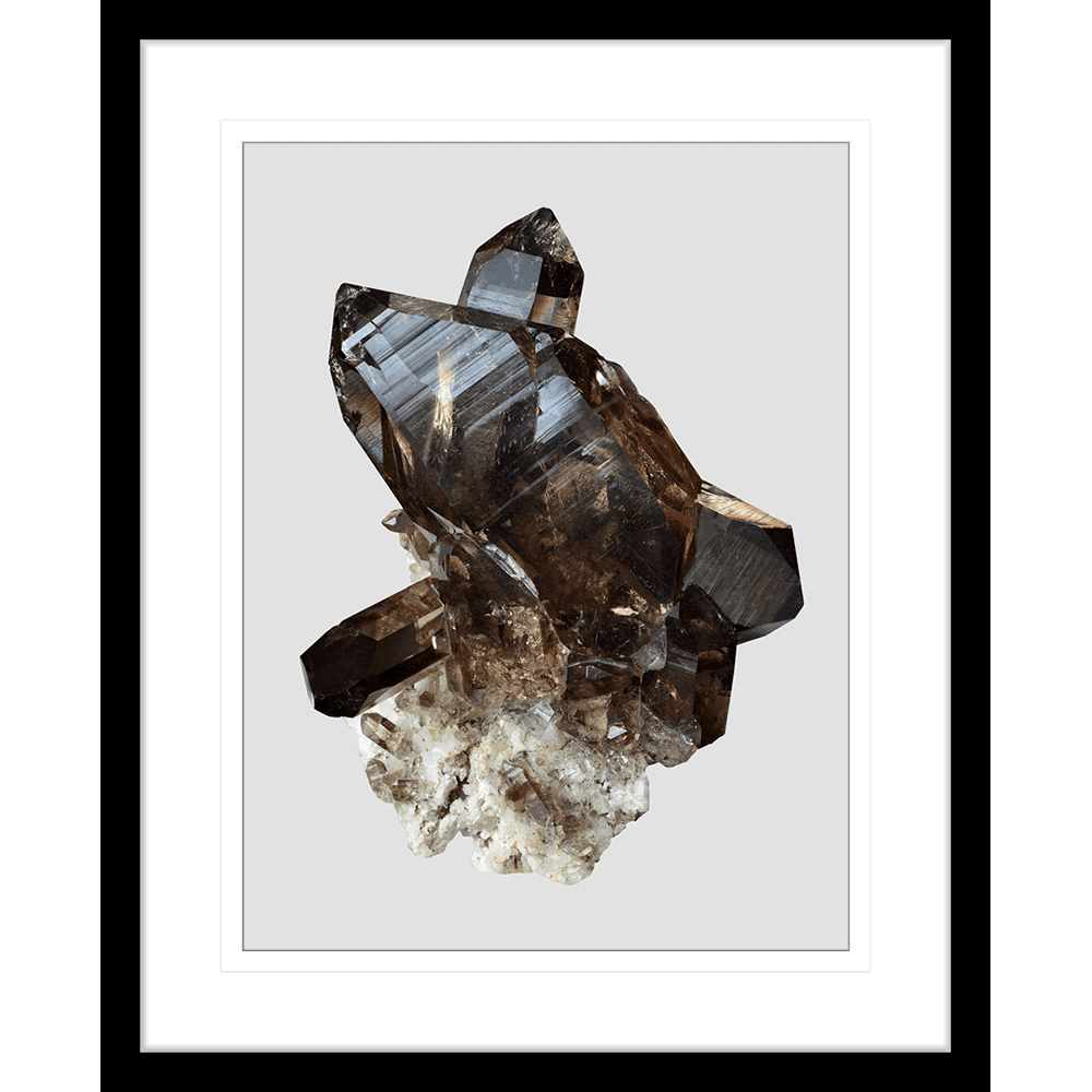 Onyx & Quartz Collection - ONYX04 - Framed Art Print Black